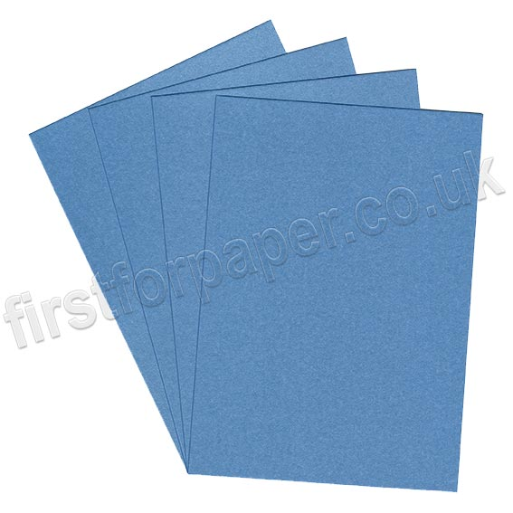 Galaxia Pearlescent Single Sided Card, 310gsm, Blue