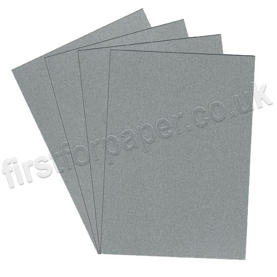 Galaxia Pearlescent Single Sided Card, 310gsm, Silver