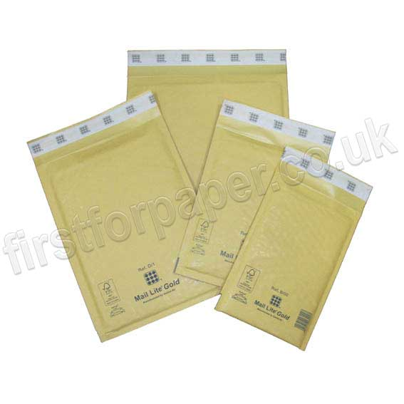 Mail Lite, Gold Padded Envelopes