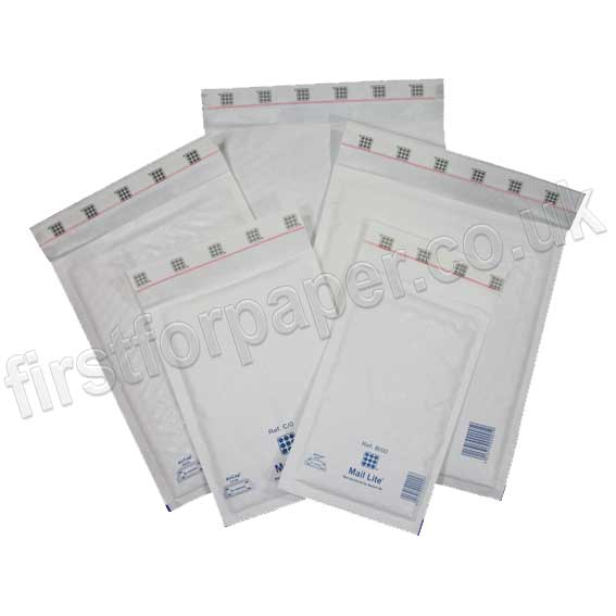 Mail Lite, White Padded Envelopes