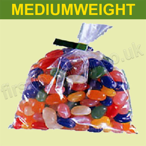 Mediumweight Open Top Clear Polythene Bags