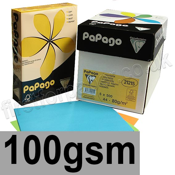 Papago Coloured Paper, 100gsm
