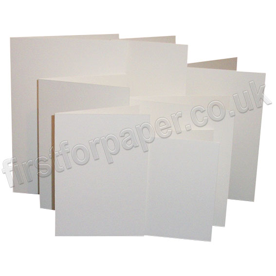 Linen Texture, Pre-Creased, Single Fold Cards, White