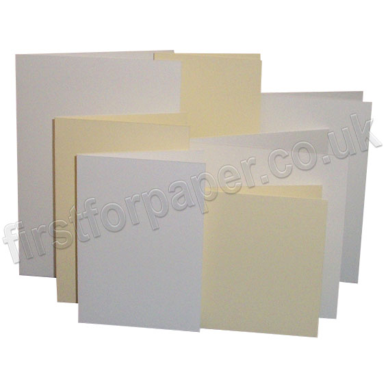 Linen Texture, Pre-Creased, Single Fold Cards
