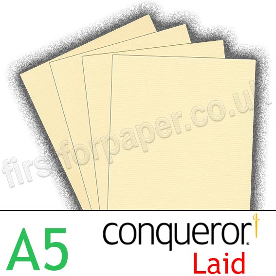 Conqueror textured laid 100gsm a5 vellum first for paper