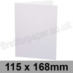 Craven Silk, Pre-creased, Single Fold Cards, 300gsm, 115 x 168mm, White