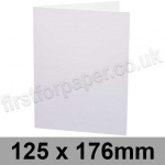 Craven Silk, Pre-creased, Single Fold Cards, 300gsm, 125 x 176mm, White