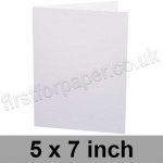 Apache Pulpboard, Pre-creased, Single Fold Cards, 380mic (280gsm), 127 x 178mm (5 x 7 inch), White