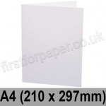 First Design Smooth, Pre-creased, Single Fold Cards, 350gsm, 210 x 297mm (A4), White