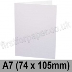 Trident, Single Sided, Semi Gloss, Pre-creased, Single Fold Cards, 275gsm, 74 x 105mm (A7), White