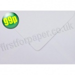 Victory Greetings Card Envelope, 125 x 175mm, White - 50 envelopes