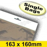 Cello Bag, with Euroslot Header, Size 163 x 160mm