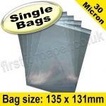 Cello Bag, with re-seal flaps, Size 135 x 131mm