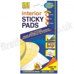 Interior Sticky Pads, Pack of 80