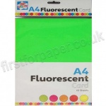 Fluorescent Card, 10 Assorted Sheets