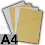 Cast Coated Card, 250gsm, A4, Buff - 5 Sheets
