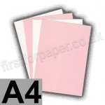 Cast Coated Card, 250gsm, A4, Pink - 5 Sheets