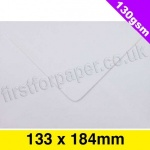 Premium Gummed Greetings Card Envelope, 130gsm, 133 x 184mm, White