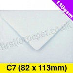 Premium Gummed Greetings Card Envelope, 130gsm, C7 (82 x 113mm), White