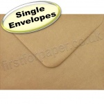 Spectrum Greetings Card Envelope, 133 x 184mm, Ribbed Kraft