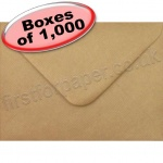 Spectrum Greetings Card Envelope, 133 x 184mm, Ribbed Kraft - 1,000 Envelopes