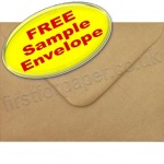•Sample Spectrum Envelope, 133 x 184mm, Ribbed Kraft
