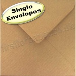 Spectrum Greetings Card Envelope, 155 x 155mm, Ribbed Kraft