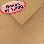 Spectrum Greetings Card Envelope, 155 x 155mm, Ribbed Kraft - 1,000 Envelopes