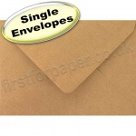 Spectrum Greetings Card Envelope, C6 (114 x 162mm), Ribbed Kraft