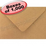 Spectrum Greetings Card Envelope, C6 (114 x 162mm), Ribbed Kraft - 1,000 Envelopes