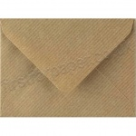 Spectrum Greetings Card Envelope, C7 (83 x 113mm), Ribbed Kraft