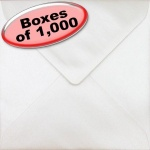 Spectrum Greetings Card Envelope, 155 x 155mm, Pearlescent Oyster White - 1,000 Envelopes