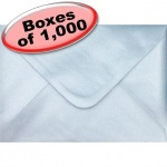 Spectrum Greetings Card Envelope, C6 (114 x 162mm), Pearlescent Ice Blue - 1,000 Envelopes