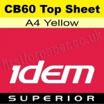 Idem Superior, CB60, Top Sheet, A4, 60gsm Yellow - 500 Sheets