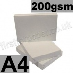 Economy 200gsm White Card, A4 - 250 Sheets