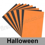 Craft & Hobby, Halloween Coloured Card, 10 A4 sheets