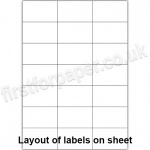 White Digital Office Labels, 70 x 42mm, 100 sheets per box