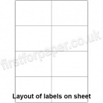 White Digital Office Labels, 105 x 74mm, 100 sheets per box