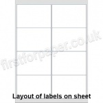 White Digital Office Labels, 99 x 68mm, 100 sheets per box