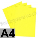Clearance Card, 160gsm, A4, Intensive Yellow - 80 sheets