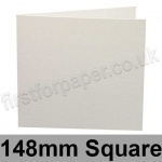 Conqueror Laid, Pre-creased, Single Fold Cards, 300gsm, 148mm Square, Brilliant White