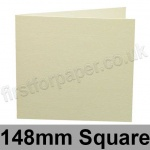 Conqueror Laid, Pre-creased, Single Fold Cards, 300gsm, 148mm Square, Cream