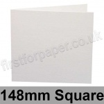 Conqueror Laid, Pre-creased, Single Fold Cards, 300gsm, 148mm Square, Diamond White
