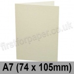 Conqueror Laid, Pre-creased, Single Fold Cards, 300gsm, 74 x 105mm (A7), Oyster