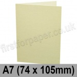 Conqueror Laid, Pre-creased, Single Fold Cards, 300gsm, 74 x 105mm (A7), Vellum