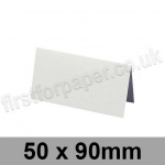 Conqueror Wove, Pre-creased, Place Cards, 300gsm, 50 x 90mm, Brilliant White