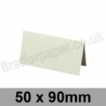 Conqueror Wove, Pre-creased, Place Cards, 300gsm, 50 x 90mm, High White