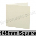 Conqueror Connoisseur 100% Cotton, Pre-creased, Single Fold Cards, 300gsm, 148mm Square, Soft White