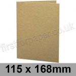 Cairn Eco Kraft, Pre-creased, Single Fold Cards, 280gsm, 115 x 168mm