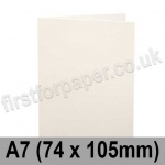Cumulus, Pre-Creased, Single Fold Cards, 250gsm, 74 x 105mm (A7), Natural